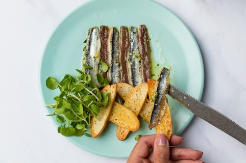 Anchovies at Camino Tapas Restaurant London
